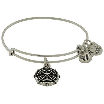 Alex and Ani Take The Wheel Charm Bangle Silver Finish Bracelet  - CBD15TTWRS