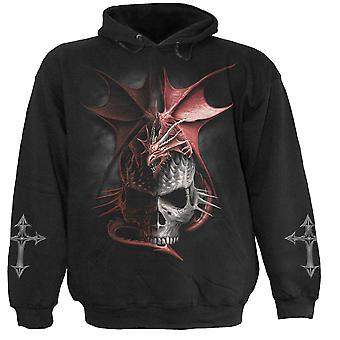 Spiral Direct Gothic SERPENT INFECTION - Hoody Black|Dragon|Skulls