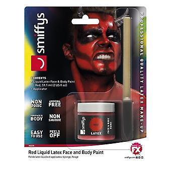 Smiffy's Liquid Latex Face And Body Paint - Red