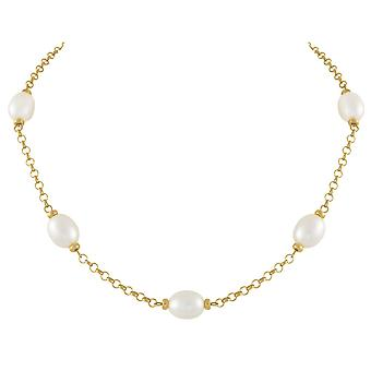 Eternal Collection Doyenne AAA White Freshwater Pearl 18ct Gold Vermeil Necklace