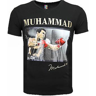 T-shirt-Muhammad Ali Glossy Print-Black