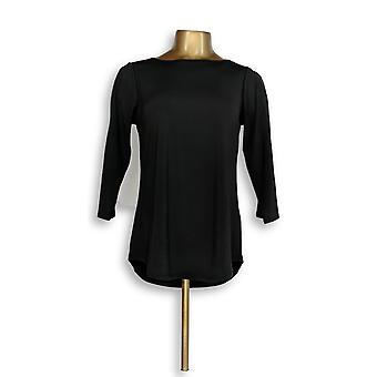 Joan Rivers Classics Collection Women's Top (XXS) Knit Top Black A299415