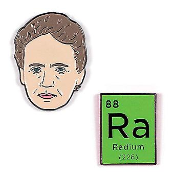 Pin Set - Marie Curie & Radium New 5309