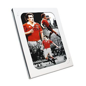 Steve Coppell firmó Manchester United montaje en caja de regalo