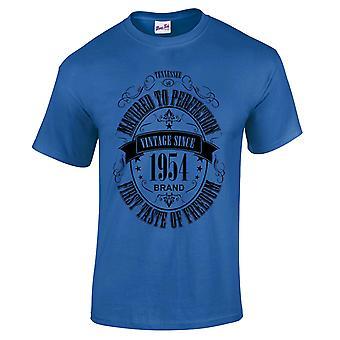 Mannen ' s 65e verjaardag T-shirt gerijpt 1954 nieuwigheid giften voor hem