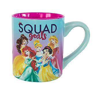 Disney Princesas esquadrão objetivos café caneca cerâmica