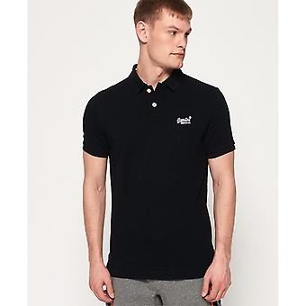 Superdry Classic Pique Polo-svart