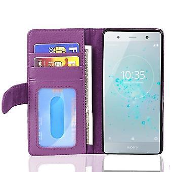 Funda Cadorabo para Sony Xperia XZ2 Compact Funda de Funda - Funda de teléfono con cierre magnético y 3 ranuras para tarjetas - Funda de funda de caso caso Caso libro plegable estilo plegable estilo de plegado