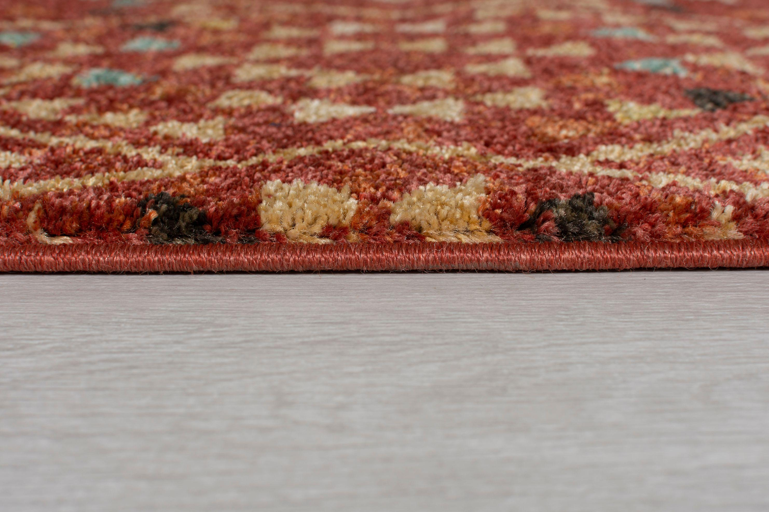 Nova Flair Odine Red  Rectangle Rugs Traditional Rugs