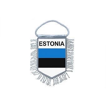 Vlag mini vlag land auto decoratie Estland Ests