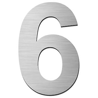 Serafini house number 6 stainless steel V4A self-adhesive height 15 cm