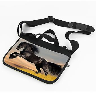 Zwarte paard laptop sleeve-Pug Dog tas laptop tas 13 ' '
