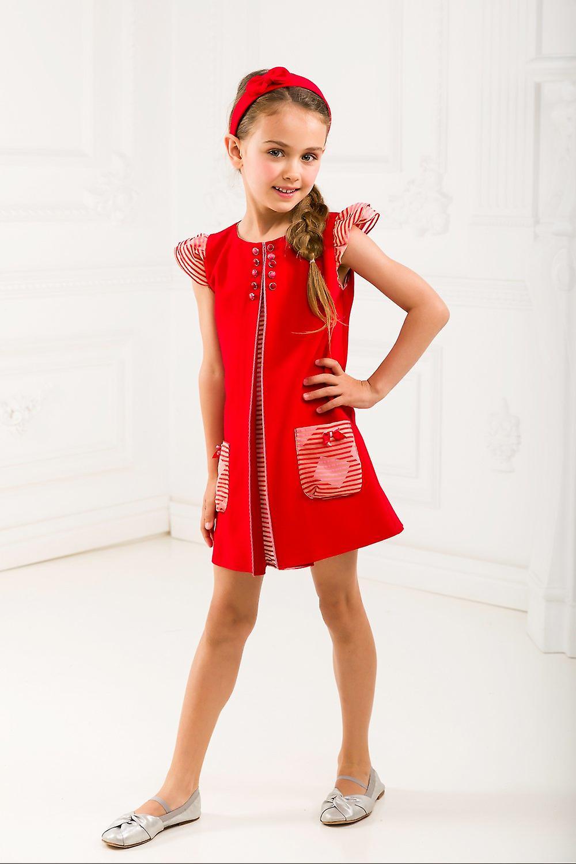 Red pleat dress set