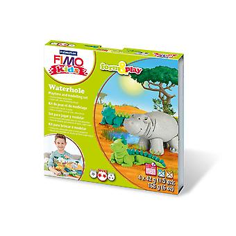 Staedtler 8034 14 LZ Fimo Kids Seaworld Form and Play Set