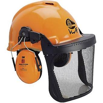 3M Forest XA007707335 Foresters hard hat Built-in face shield Orange