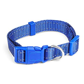 Small Blue Adjustable Reflective Collar
