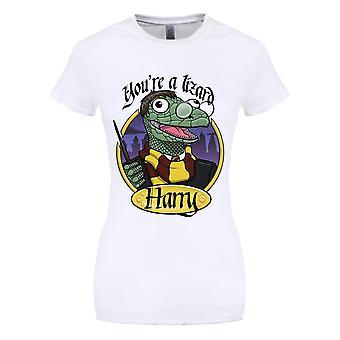 Grindstore kvinner/damer du er en øgle Harry T-skjorte