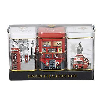 Iconic london triple english tea mini tin gift pack