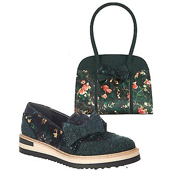 Ruby Shoo Women's Joanne Loafer Shoes & Matching Denver Bag