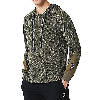 Allthemen Men's Hooded Stitching Fashionable Casual Sweatshirt
