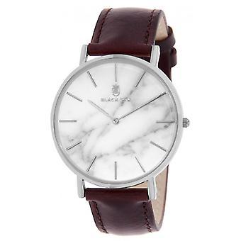 Watch Black Oak BX97031-205 - money man White Dial steel case Brown leather