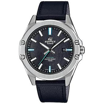 Casio EFR-S107L-1AVUEF horloge-multifunctionele blauw lederen armband staal