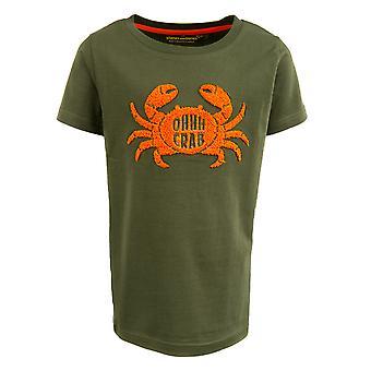 Stones And Bones Tshirt Russell Crab Khaki