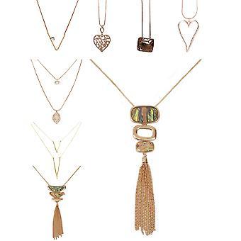 Dámske šperky Móda dlhá reťaz náhrdelník láska srdce ružové zlato nové