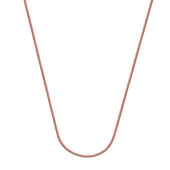 925 Sterling Silver Rose Pläterade 1.25mm Rund vete kedja halsband Hummer Claw Stängning smycken gåvor för kvinnor - Längd: