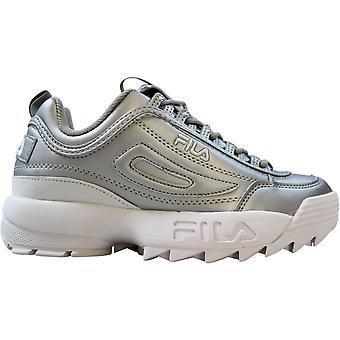 Fila Disruptor II بريميوم الفضة المعدنية المعدنية / الأبيض 5FM00040-662 النساء & ق