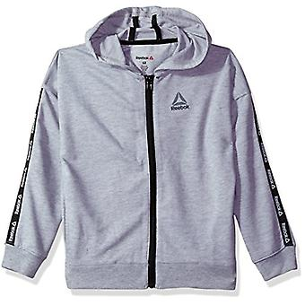 Reebok Little Girls' Active Jacket, 3025-Medium Heather Grey, 5