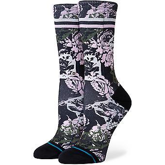 Stance La Vie En Rose Crew Socks in Black