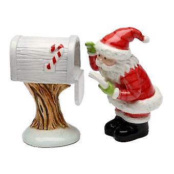 سانتا التحقق من علبة بريد رسائل أطفال عيد الميلاد الملح والفلفل