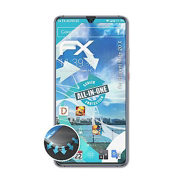 atFoliX 3x Protective Film compatible with Huawei Mate 20 X Screen Protector clear&flexible