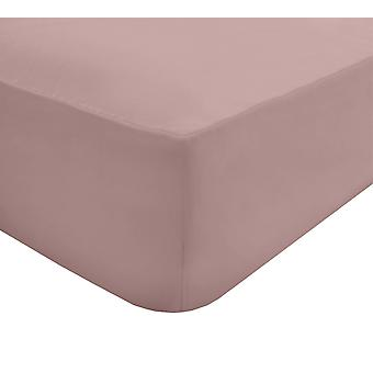 Extra tief montiert Bett Blatt weich rosa - Super King