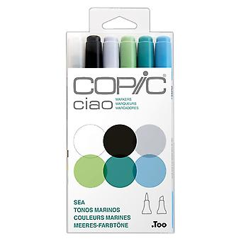 Copic Ciao Markers Sea Tones Set of 6 Colours