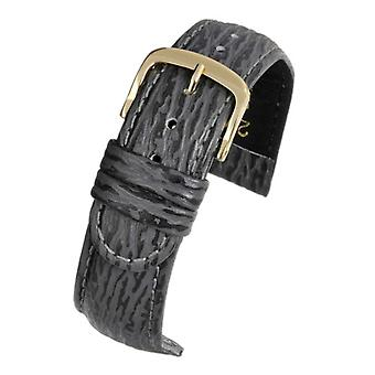Shark grain watch strap padded grey