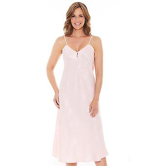 Chums Ladies Satin Nightdress Jacquard