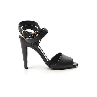 Tom Ford W2610tlcl002u9000 Dames's Black Leather Sandalen