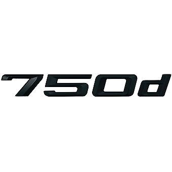 Matt Black BMW 750d Car Model Rear Boot Number Letter Sticker Decal Badge Emblem For 7 Series E38 E65 E66E67 E68 F01 F02 F03 F04 G11 G12