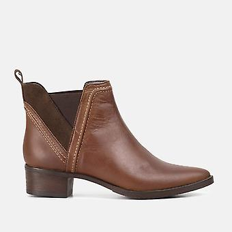 Elena brown leather chelsea ankle boot