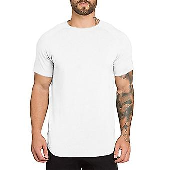 Athlemon hombres musculoso camisetas manga corta Hipster Hip Hop Longline Camiseta C...