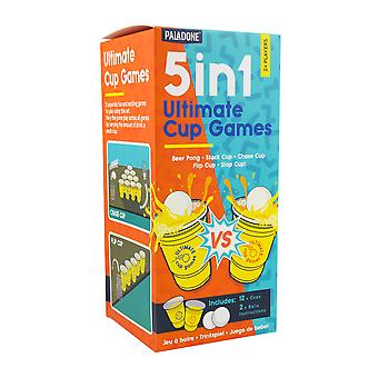 5 en 1 Ultimate CUP Games Beer Pong Perfect For Games Nights & Parties
