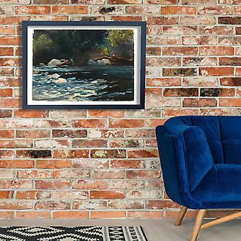 Winslow Homer - The Rapids Hudson River Adirondacks Poster Print Giclee
