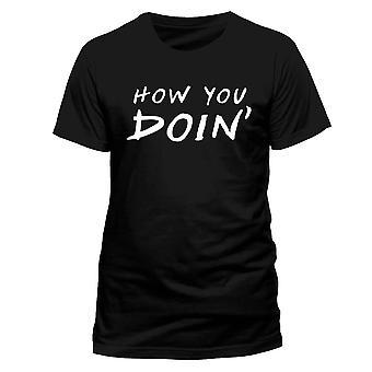 Men's Friends How You Doin' Black T-Shirt