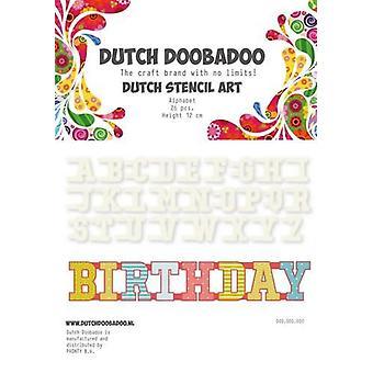 Dutch Doobadoo Dutch Mask Art stencil Alfabet A-Z (26 stencils) 12cm 470.990.010