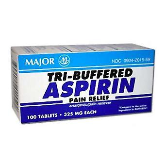 Major tri-buffrad acetylsalicylsyra, 325 mg, tabletter, 100 ea