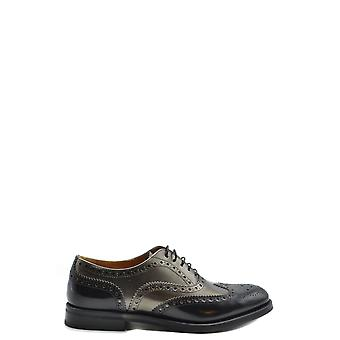 Church's Ezbc004087 Women's Black/green Leather Lace-up Shoes