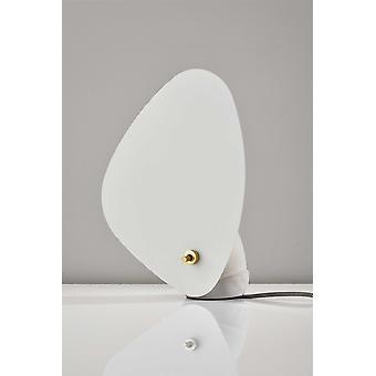 Lámpara de mesa de hormigón de aleta blanca
