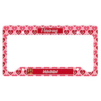 Irish Setter Valentine's Love and Hearts License Plate Frame